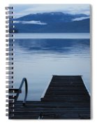 Sunset Dock At Priest Lake Spiral Notebook