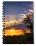 Sunset Done Arizona Style  Spiral Notebook