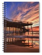Sunset Drama Spiral Notebook