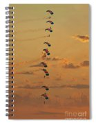Sunset Falcons Stack Formation Spiral Notebook