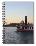 Sunset Ferry In Savannah Spiral Notebook