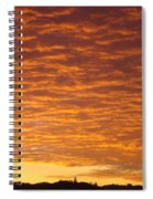 Sunset Fiery Orange Sunset Art Prints Sky Clouds Giclee Baslee Troutman Spiral Notebook