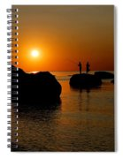 Sunset Fishing Spiral Notebook