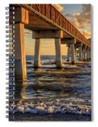 Sunset Fort Myers Beach Fishing Pier Spiral Notebook