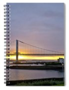 Sunset. Forth Road Bridge. Spiral Notebook