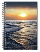 Sunset From Newport Beach Pier Spiral Notebook
