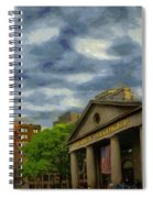 Sunset Gleam Of Custom House Tower Spiral Notebook