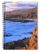 Sunset Glow Along Pacific Coast Spiral Notebook