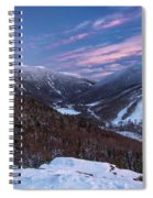 Sunset Glow Over Cannon Mountain Spiral Notebook