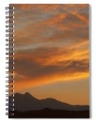 Sunset Glow Over The Twin Peaks Spiral Notebook