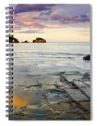 Sunset Grid Spiral Notebook