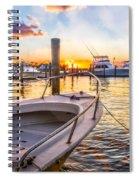 Sunset Harbor Spiral Notebook