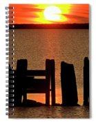 Sunset Hecla Island Manitoba Canada Spiral Notebook