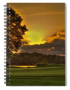 Sunset Hole In One The Landing Spiral Notebook