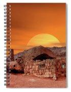 Sunset House Spiral Notebook