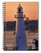 Sunset Hues Cockle Bay Wharf Spiral Notebook