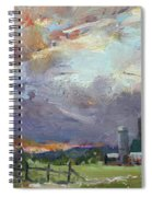 Sunset In A Troubled Weather Spiral Notebook