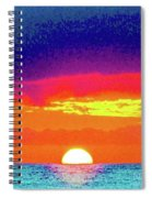 Sunset In Abstract 500 Spiral Notebook