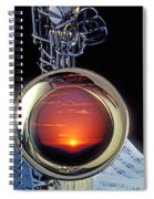 Sunset In Bell Of Sax Spiral Notebook