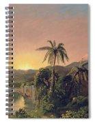 Sunset In Equador Spiral Notebook