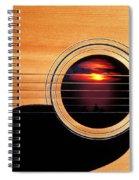 Sunset In Guitar Spiral Notebook
