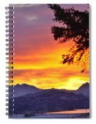 Sunset In Homer Alaska Spiral Notebook
