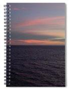 Sunset In Long Beach California  Spiral Notebook