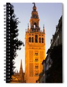 Sunset In Seville - A View Of The Giralda Spiral Notebook