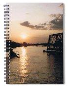 Sunset In Superior Wi Spiral Notebook