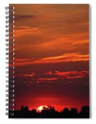 Sunset In The City Spiral Notebook