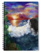 Sunset In The Cove Spiral Notebook