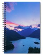Sunset In The Diablo Lake, Wa Spiral Notebook