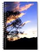 Sunset In The Highlands Spiral Notebook