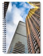 Sunset In The Urban Canyon Spiral Notebook