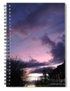 Sunset In Winter Skies  Spiral Notebook