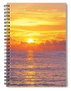 Sunset, Indian Rocks Beach, Florida, Usa Spiral Notebook