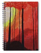 Sunset Into The Forest Spiral Notebook