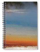 Sunset Lake In Black Sand Basin Yellowstone National Park Spiral Notebook