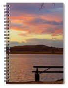 Sunset Lake Picnic Table View  Spiral Notebook