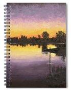 Sunset At Ryba Lake Spiral Notebook