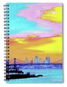 Sunset Lower Manhattan 2c5 Spiral Notebook