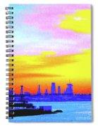 Sunset Lower Manhattan 2c3 Spiral Notebook