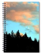 Sunset Moon Spiral Notebook