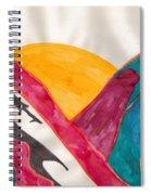 Sunset Mountains Spiral Notebook