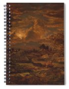 Sunset Near Arbonne , Theodore Rousseau Spiral Notebook