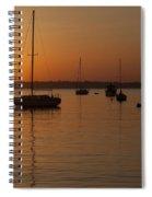 Sunset Newport Boats Spiral Notebook