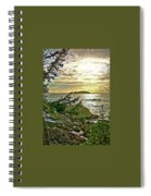 Sunset Off Vancouver Island Spiral Notebook