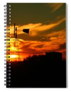 Sunset On A Windmill Jal New Mexico Spiral Notebook