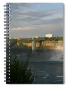 Sunset On American Falls 2 Spiral Notebook