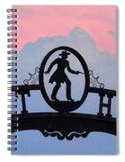 Sunset On Boot Hill Spiral Notebook